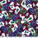 Remnant End of Bolt Cotton Quilting Fabric Christmas Burgundy Blue Green White Stockings Appliqued Stockings on Red 30 x 45 Inches Clearance