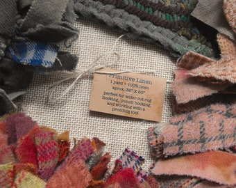 Primitive Linen foundation for rug hooking, punch hooking, and prodding//bleached open weave fabric//best quality for heirloom crafts