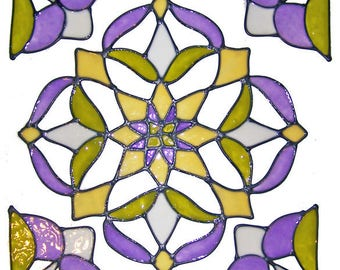 Purple & Sage Window Cling Set