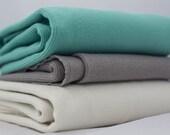 Birch Organic Ribbed Knit Cotton Fabric, Cream, by the half-yard