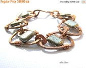 End of Year Sale Bohemian Rustic Copper Pyrite Bracelet  Bohemian Jewelry Tribal Jewelry Gifts for Women