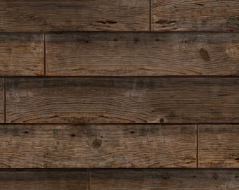 Wood Fabric - Stained Planks By Willowlanetextiles - Wood Cotton Fabric By The Yard With Spoonflower