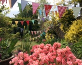 Reserved for Lelanl - Extra Long Bunting / fabric garland / banner - 50ft Long 15m, bright fun colours, weddings, parties, decoration