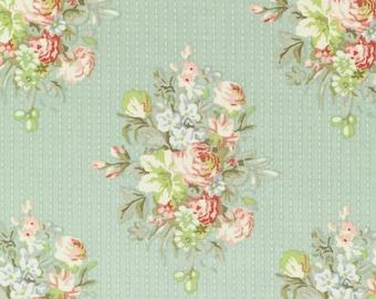 Tilda Fabric, Sofia Light Green Fat Quarter, Happiness is Homemade Collection, Tilda Fabric 480731, Fat Quarter, 50 cm x 55 cm
