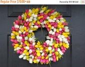 VALENTINES DAY SALE Custom Spring Wreath, Spring Decor, Mother's Day Wreath,  Wall Decor, Custom Colors, Spring Decoration  The Original Tul