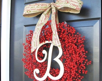 CHRISTMAS WREATH SALE Red Berry Christmas Wreaths, Holiday Decor, Berry Wreaths, Thanksgiving Wreath, Halloween Wreath Thanksgiving Decor We