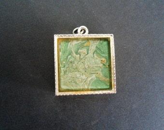 Green & Silver Pendant - Small