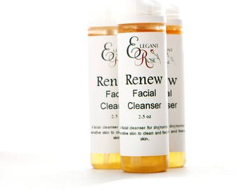 Renew Facial Cleanser - Skin Care, Mild Cleanser for Dry/Sensitive/ Normal Skin