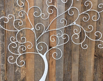 Tree of life Farmhouse barn wood rustic wall art metal tree eco-friendly wedding gift art reclaimed wood Outer Banks BeachHouseDreamsHomeOBX