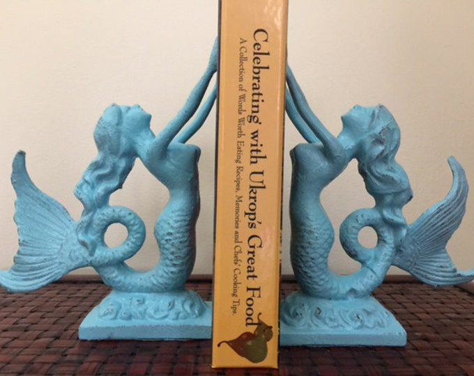 Featured listing image: Mothers day mermaid bookends beach home coastal decor nautical beach lover gift idea coastal decor unique Beach House Dreams Outer Banks OBX
