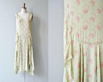 Talinda floral silk dress | vintage 1920s dress | floral silk 20s dress