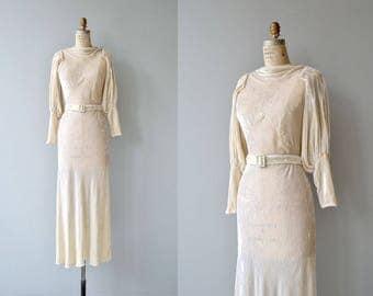 Isonoe wedding gown | vintage 1930s wedding dress | silk velvet 30s wedding dress
