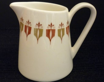 Vintage Syracuse China Captain's Table Individual Creamer Syralite White Red Green