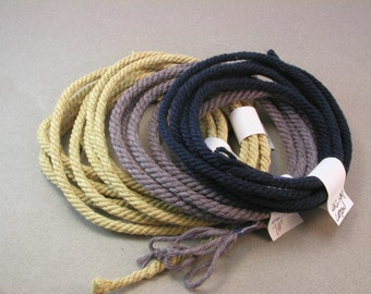 custom craft rope macrame cord handmade craft rope hand dyed color cord 4067