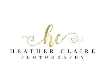 Heart Logo Gold Logo Photography Logo Photography Watermark Lash Logo Branding Party Planner Logo Wedding Planner Logo Event Logo Design
