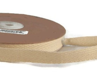 Blank Twill Cotton Ribbon Twill Tape Natural 1/2 inch - 2 Yards - CHOOSE COLOR