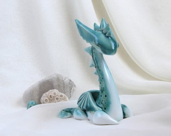 Turquoise Magical Dragon - Hand Made Ceramic Eco-Friendly Home Decor by studio Vishnya