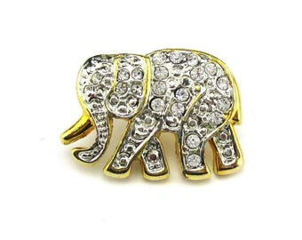 Elephant Tie Tack Rhinestone