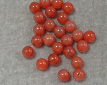 Half Strand of Red Carnelian Gemstones  8mm (412)