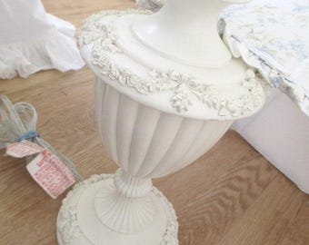 SOLD * Vintage Shabby Chic Pink Roses Shade * Blush Beauty * HTF Barbola Style Lamp * R.A. * Retired * Discontinued