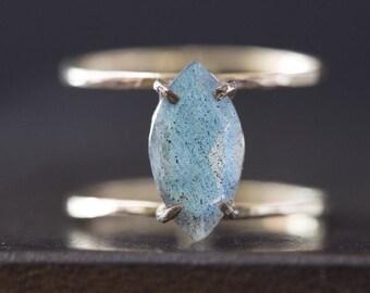 Labradorite Cage Ring