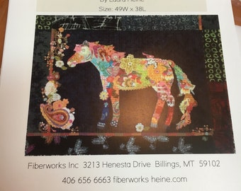 Confetti by Laura Heine Horse Collage Pattern / quilt pattern / floral / like new