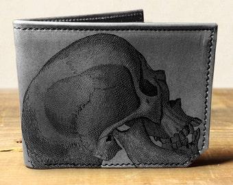 wallet - leather wallet - skull wallet - mens wallet - 0013