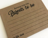Advice for Mommy and Daddy, Advice for Mommy and Daddy to be, Advice for Baby, Advice cards, Parents to be, Well wishes