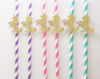 Unicorn Paper Straws, Unicorn Birthday, Paper Straws, Unicorn Birthday Party