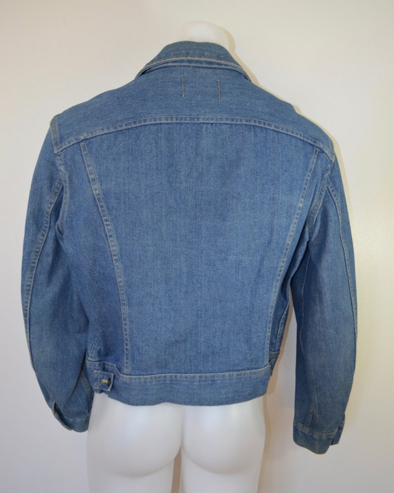 Vintage LEE RIDERS Denim Jean Jacket coat union made usa 2