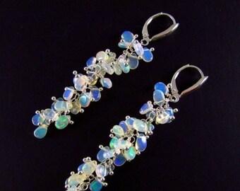 20 Off Long Ethiopian Opal Earrings With Sterling Silver