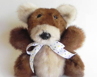 Two-color mink bear by Bruno Bears