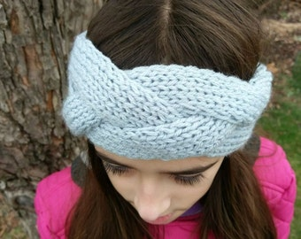 Braided Knitted Headband, Knit Headband, Knit Beanie, Turban, Cute Turban Headband, Ear Warmer, Winter Hairband