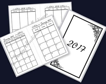 Personal Planner 2017 Printable Month Inserts BONUS BLANK PAGES