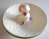 Avon Bunny Dish Bunny Jewelry Dish Bunny Ring Dish Rabbit Jewelry Dish Rabbit Ring Dish Vintage Bunny Dish White Porcelain Vanity Decor