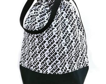 Large Two Project Knitting Project Bag Crochet Tote - Star Wars (flannel)