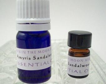 Amyris Sandalwood Essential Oil - 5/8 Dram or 5 mL - Aromatherapy Diffuser Oil