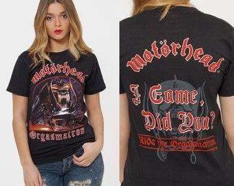 Vintage 80s MOTORHEAD T Shirt ORGASMATRON Tour T-Shirt Rock Shirt Never Worn