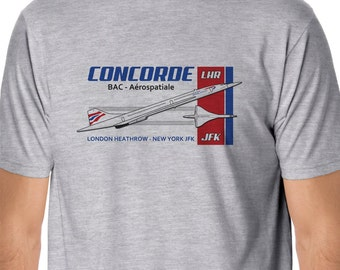 Retro Flight - Concorde London - New York Flight T-Shirt