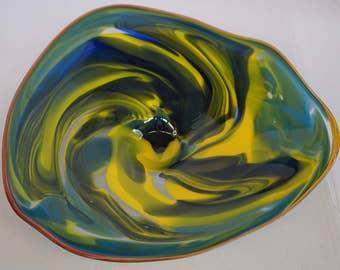 Wall Art Glass Blown Platter 674