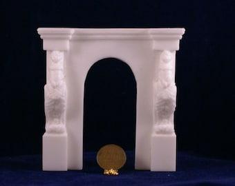 1:12 Scale Fireplace Mantel - French Cherub Mantel 2 (FCMU2-2)