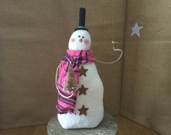 PRIMITIVE/FOLKART , Country  Winter SNOWMAN