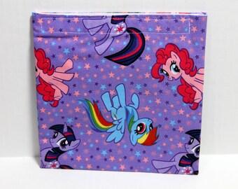 Reusable cloth sandwich bag- purple pony