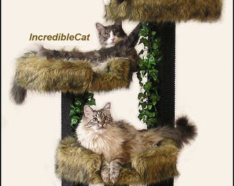 cat scratching post trees 4u0027 high boulder designer cat tree elegant cat