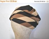 SALE 50% OFF Turban Hat / 1960s / neutral / GIMBELS