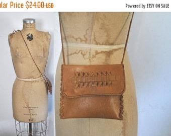 SALE 50% OFF Leather Pouch Brown Bag / wallet purse