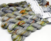 Mini Skeins - Hand Dyed Speckled Yarn - Sumptuous 75/25 - 92 Yards - Bug Jar