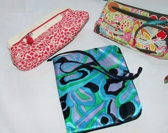 3 Purse Accessory Cosmetic Toiletry Storage Bags- Lily Bloom- Burt's Bees-Celebrity  1016