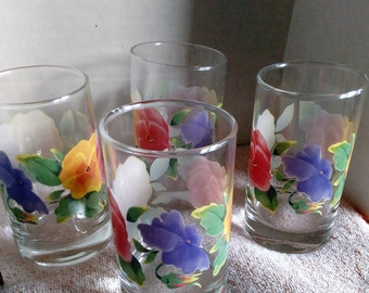 Forget me Not Flower Glasses, Signed, Beautifull