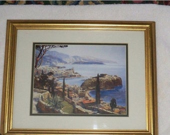 SALE Erich Mercker Monte Carlo Art Print Canada top Art Italy